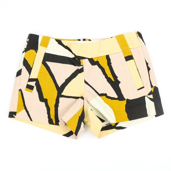 J. Crew Pants - J Crew Gallery Shorts Geometric Abstract Summer 2